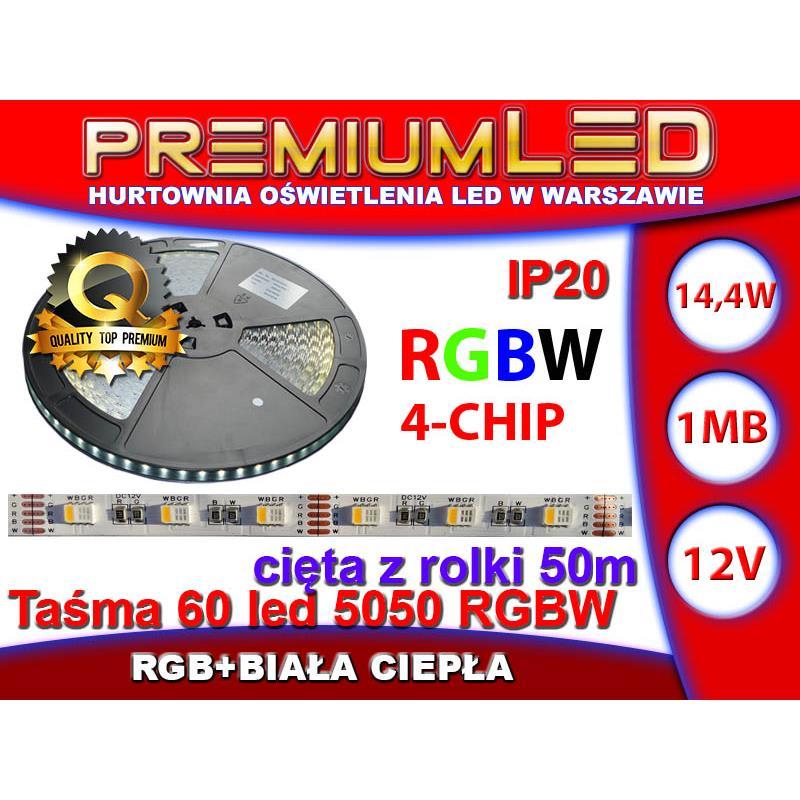 Taśma 60 Led 5050 4 Chip Rgbww 1m Ip20 Rgb Ciepła